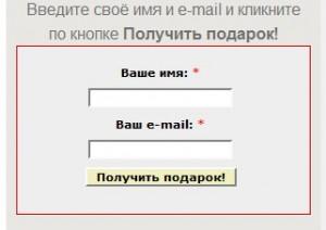 Василий Сенченко, сайт за 12 часов, форма подписки после преобразования
